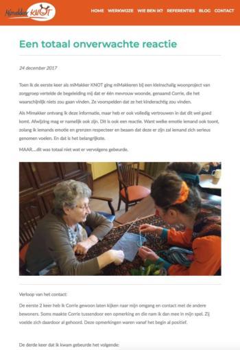 Mimakker Knot Blog, Webdesign Henk van Mierlo Tilburg